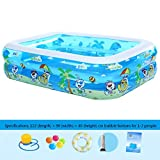 Inflatable pool/wading pool, Easy Set Pool, Intime Foldable Rectangular inflatable, 3 rolls diameter 150 cm height 51 cm,1