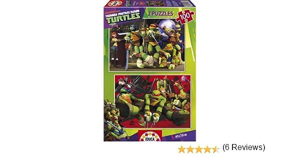Puzzles Educa - Tortugas Ninja, 2 Puzzles x 100 Piezas (15687)