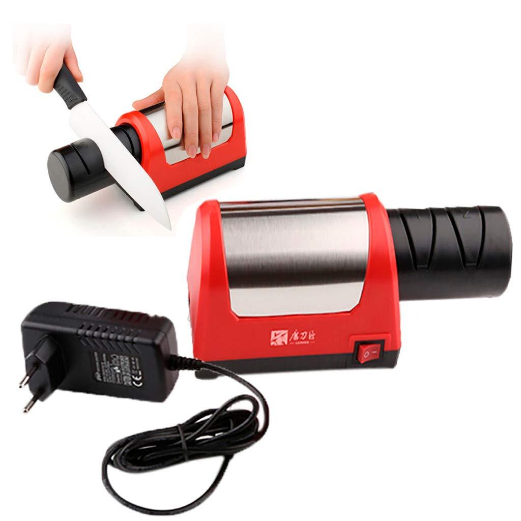 Wabaodan Electric Knife Sharpener Grinder Kitchen Coarse Fine Grinding Sharpening Tool