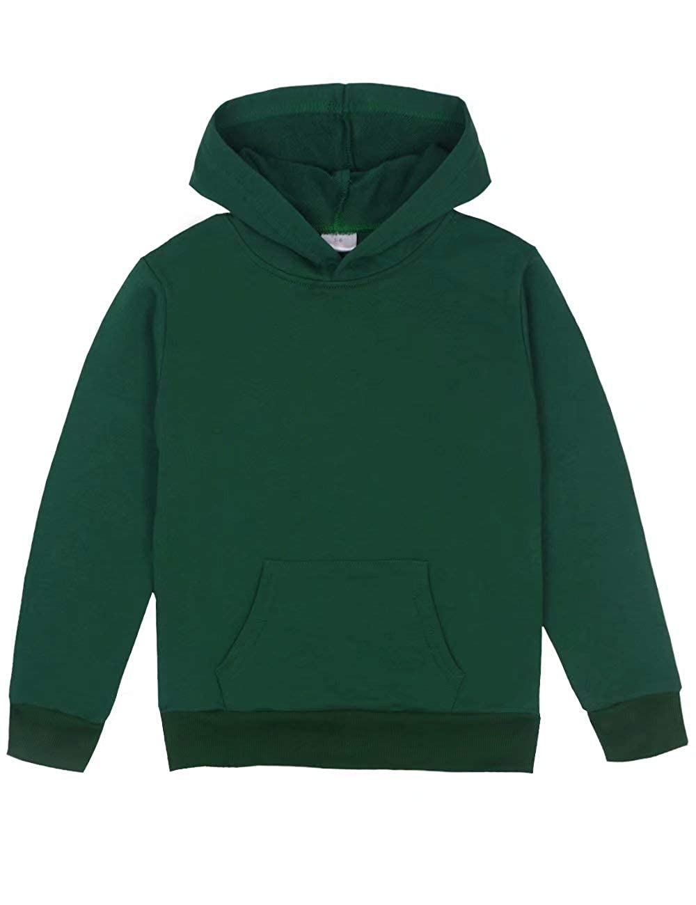 Spring&Gege Youth Solid Classic Hoodies Soft Hooded Sweatshirts for Children (3-12 Years)