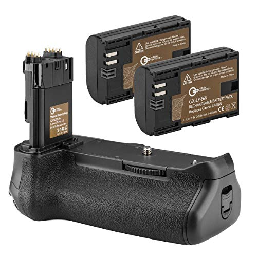 - Green Extreme BG-E16 Battery Grip + 2-Pack High Capacity 2000mAh LP-E6/LP-E6N Batteries, Replacement for Canon EOS 7D Mark II Digital SLR Camera