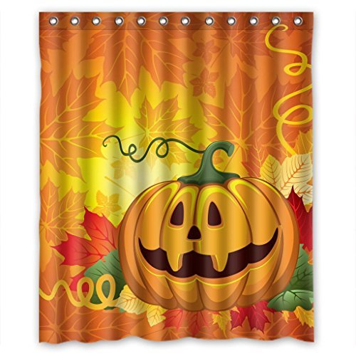 Happy Hallowmas maple pumpkin Shower Curtain Measure 60