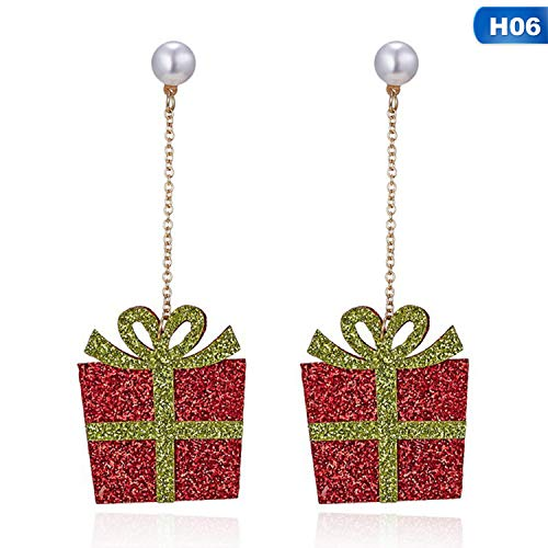 Cute Small Santa Claus Snowman Earring Lovely Tree Bell Christmas Jewelry Christmas Earring For Women Gifts Studs Earrings,6 (Sc Shop Christmas Tree Greenville)