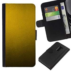 KingStore / Leather Etui en cuir / LG G2 D800 / Patrón de metal rústico metálico amarillo