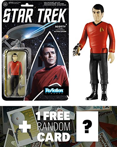 Scotty: Funko ReAction x Star Trek Action Figure + 1 FREE Official Star Trek Trading Card Bundle (46873)