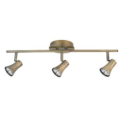 Globe electric 57651 3 light track lighting kit antique brass globe electric 57651 3 light track lighting kit antique brass finish mozeypictures Gallery