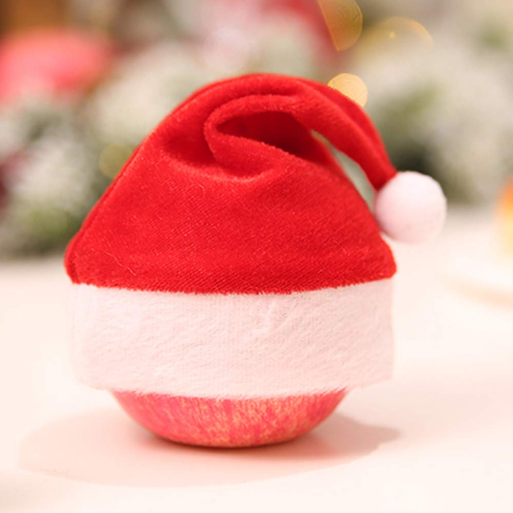 Lovewe Mini Christmas Hat,Mini Christmas Apple Wine Bottle Caps,Santa Claus Hat Table Home Xmas Gift(1/6Pc) (1Pc) by Lovewe_Christmas Decor (Image #2)