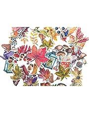 SMTHOME Autumn Leaf Sticker for Bulletin Journal, Scrapbook Album Fall Leaves Decor Sticker (49pcs/Pack)