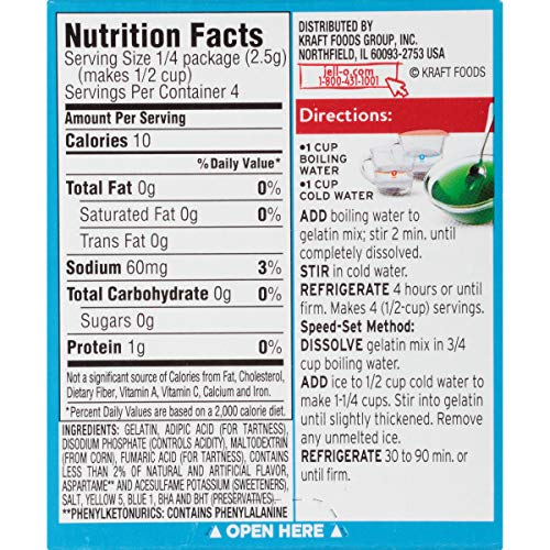 Jell-O Sugar-Free Lime Gelatin Dessert Mix, 0.3 oz Box by Jell-O (Image #7)