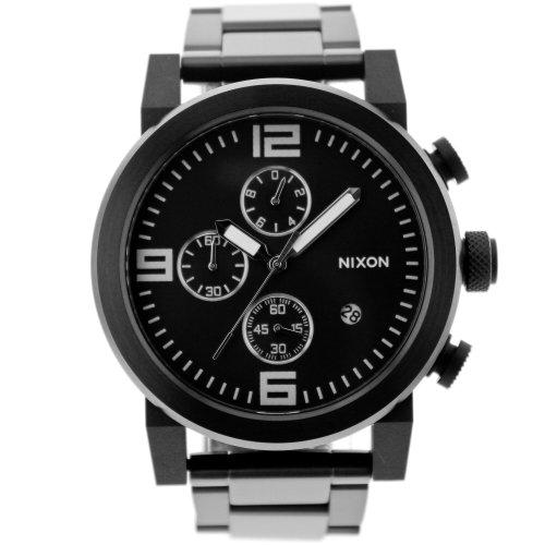 Nixon Men's A347-001 Stainless Steel Analog Black Dial Watch