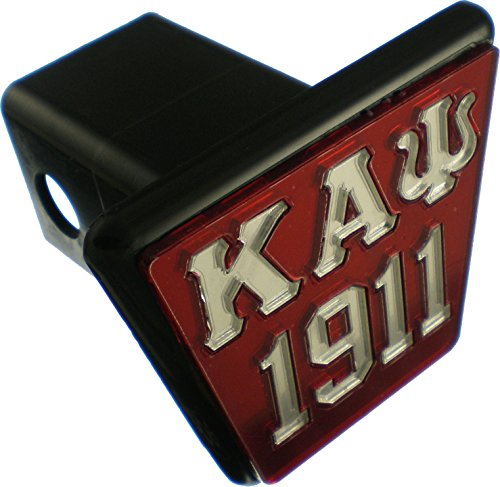 Cultural Exchange Kappa Alpha Psi 1911 Trailer Hitch Cover [Red/Silver - 2