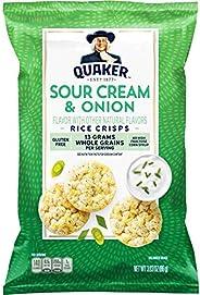 Quaker Rice Crisps, Sour Cream & Onion, 3.03 oz Bag (Packaging May V