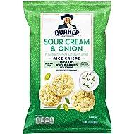 Quaker Rice Crisps, Sour Cream & Onion, 3.03 oz Bag (Packaging May Vary)
