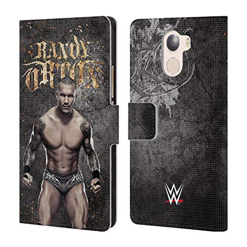 (Official WWE LED Image Randy Orton Leather Book Wallet Case Cover for Wileyfox Swift 2X)