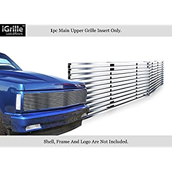 APS Stainless Chrome Billet Grille Compatible with 1973-80 Chevy C K Pickup Suburban Blazer S18-S80058C