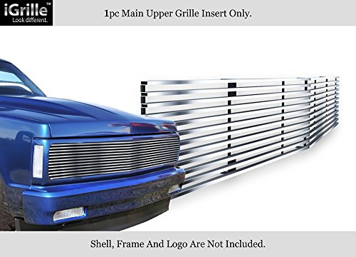APS Compatible with 91-93 Chevy S10 Blazer 91-94 Jimmy Phantom Stainless Chrome Billet Grille C85232S (Chevy S10 Grille Emblem)