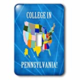 Beverly Turner College in - United States Map, College in Pennsylvania, Heart and Car with Luggage - Light Switch Covers - single toggle switch (lsp_233546_1)