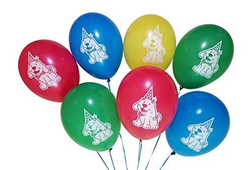Puppy Dog Birthday Party Balloons - 25 Pack - Red, Blue, Green, Yellow ()