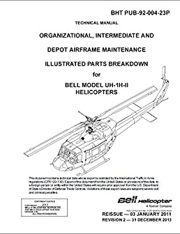 uh 1h ii parts manual bell helicopter amazon com books Helicopter Safety Diagram