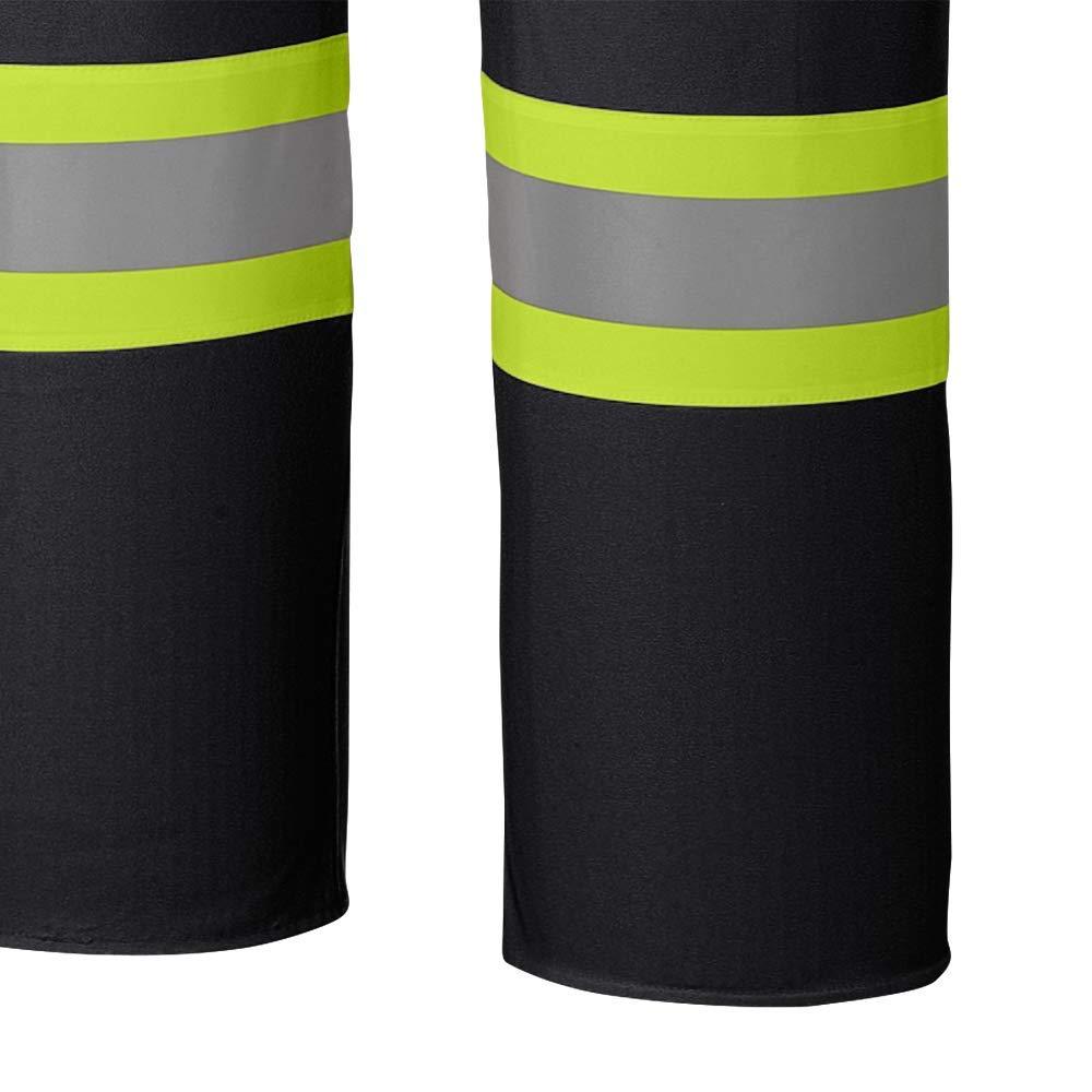 5XL V3520270-5XL Black Lightweight Pioneer Waterproof FR Chemical Resistant Strech Overall Bib Work Pants
