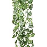 CARCHET 90CM Artificial Fake Faux Scindapsus Leaf Vine Plant Garland Wedding