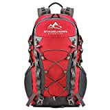 STADELHORN Hiking Daypack Waterproof 40L Capacity (Red)