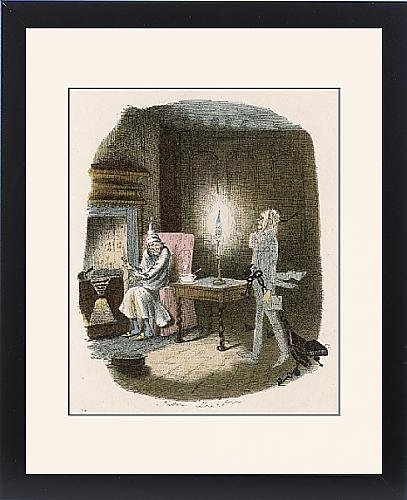 Framed Print Of Scrooge And Marley Ghost by Prints Prints Prints