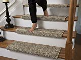Caprice Bullnose Carpet Stair Tread with Adhesive Padding, by Tread Comfort (Single 27