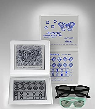 Stereo Butterfly Test, Stereo Acuity Test with Adult & Pediatric Goggles. by KSIPL