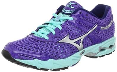 Mizuno Women's Wave Precision 13 Running Shoe,Ultraviolet/Silver/Aruba Blue,8 B US