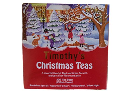 Timothy's Christmas Teas Breakfast Special Peppermint Silent Night Red Box (Breakfast Christmas Special)