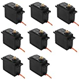 LTC 8pcs MG995 Metal Gear RC High Speed Torque Servo Sets for FUTABA, Hitec, Sanwa ,Truck, Boat, Racing Car, Helicopter and Airplane.