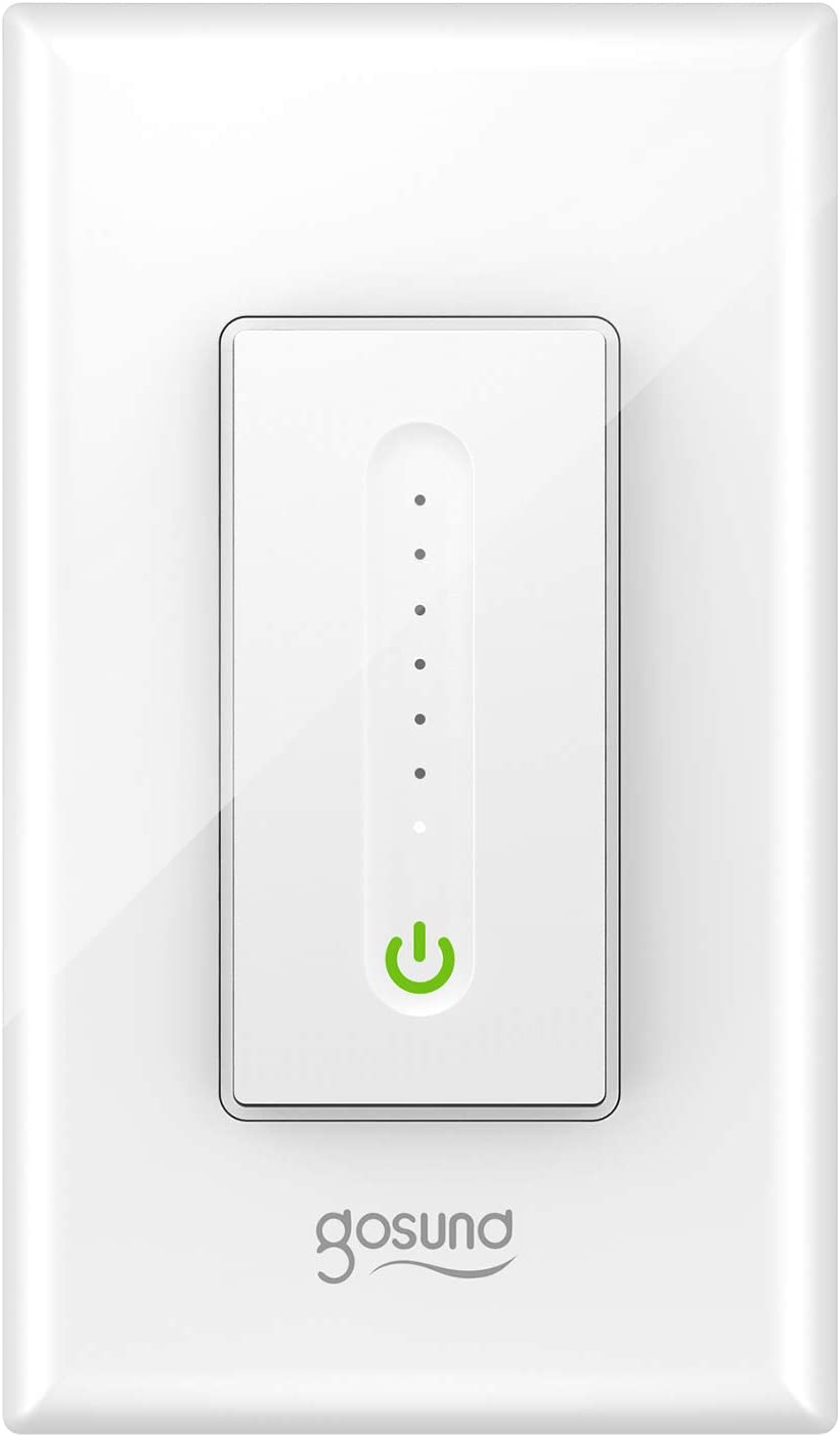 Smart Dimmer Switch, Gosund Smart Light Switch Dimmer Works with Alexa & Google Home, with Remote Control & Timer, Single-Pole, Neutral Wire Required, ETL & FCC Listed, No Hub Required (1 Pack)