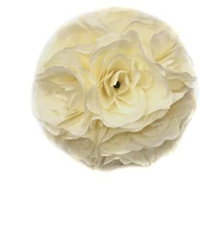 Amazon elegant 10 inch satin flower ball for wedding party ben collection fabric artificial flowers silk rose pomander wedding party home decoration kissing ball trendy color mightylinksfo