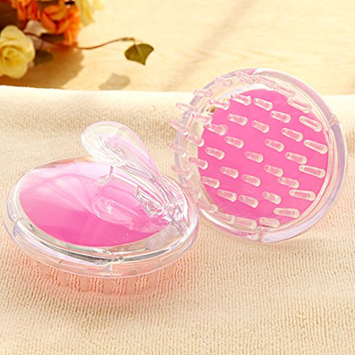 Silicone Massage Scalp Brush Shampoo Washing Hair Massager Brush Comb ,Pet bath brush ,Pet Massage Brush for Dogs or Cats (pink,set of 2 pieces)