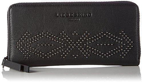 Liebeskind Berlin Women's GigiW7 Studded Zip Around Leather Wallet Wallet, Oil Black/StudSp, One Size by Liebeskind Berlin