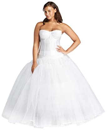 05b2483c37d58 David s Bridal Extreme Ball Gown Hoop Plus Size Slip Style 9BGHOOPSLIP at Amazon  Women s Clothing store
