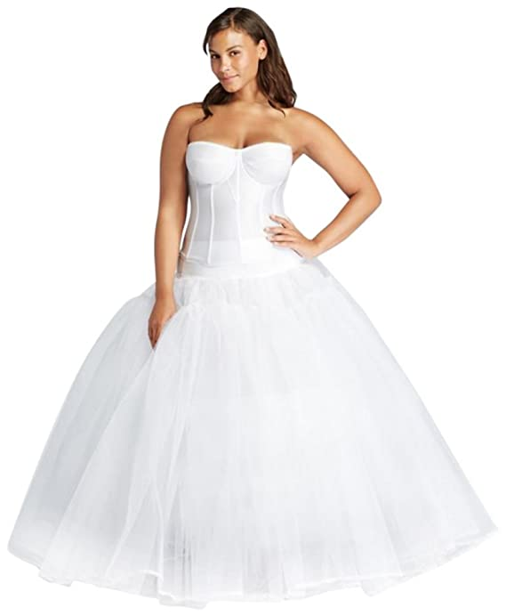 Davids Bridal Extreme Ball Gown Hoop Plus Size Slip Style 9BGHOOPSLIP at Amazon Womens Clothing store: