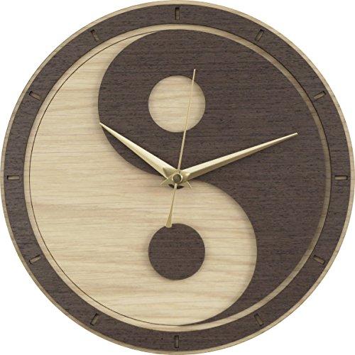 Yin Yang Wooden Clock (Yin and Yang / Yin-Yang)