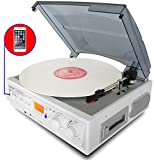 Best Speed Turntable With LCD Displaies - Boytone BT-37WT-C White Color Limited Edition 3-Speed Stereo Review