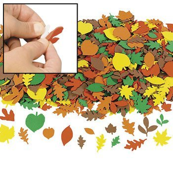 Foam Fall Leaf Shapes - 500 pc - Craft Leaves Fall Leaves Craft