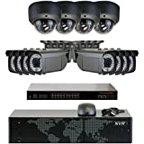 GW Security 5MP (2592x1920p) 16Ch NVR Home Security Camera System - HD 1920p 2.8~12mm Varifocal Zoom Weatherproof (8) Bullet and (4) Dome PoE IP Camera - 5 Megapixel (3,000,000 more pixels than 1080P)