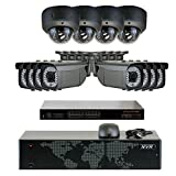 Cheap GW Security 5MP (2592x1920p) 16Ch NVR Home Security Camera System – HD 1920p 2.8~12mm Varifocal Zoom Weatherproof (8) Bullet and (4) Dome PoE IP Camera – 5 Megapixel (3,000,000 more pixels than 1080P)