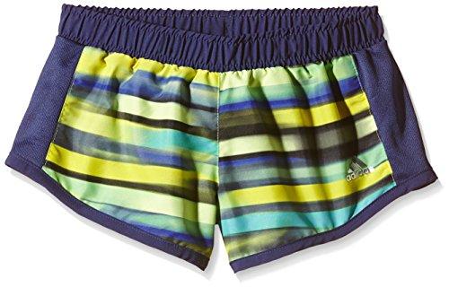 adidas YG AIS M SH - Pantalón corto para mujer, color azul marino / azul / amarillo / plata