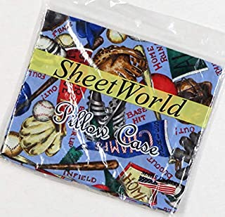 product image for SHEETWORLD.COM Baseball Cotton Baby Pillow Case