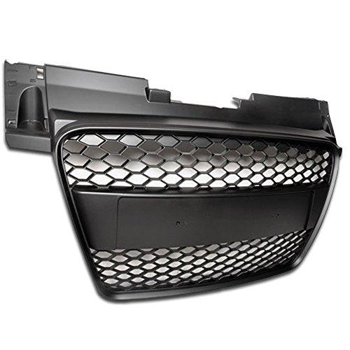 06-09 Audi TT Honeycomb Mesh Front Hood Grille Black Badgeless Design