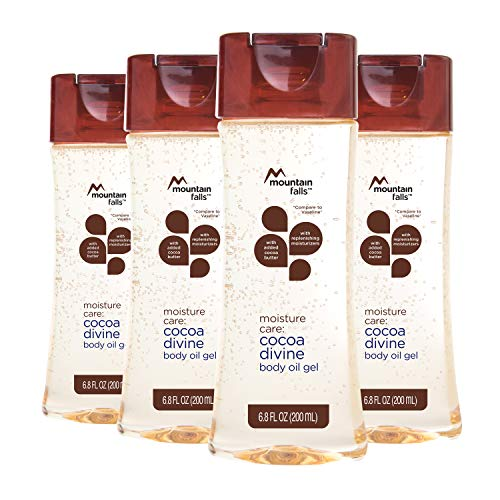 Mountain Falls Moisture Care: Body Oil Gel with Added Cocoa Butter and Replenishing Moisturizers, Cocoa Divine, 6.8 Fluid Ounce (Pack of 4)