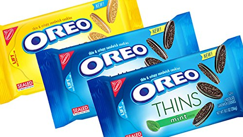Oreo Thins Variety Pack (Pack of 3) - Original, Golden, Mint Creme ()