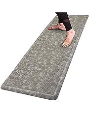 "Pauwer Long Anti Fatigue Comfort Mat for Kitchen Floor Standing Desk Thick Cushioned Kitchen Floor Mats Non Slip Waterproof Kitchen Runner Rug Comfort Standing Mat 20""x51"",Gray"