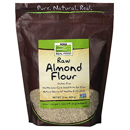 - NOW Foods, Almond Flour with Essential Fatty Acids, 5 g Carbs per Serving, 22-Ounce